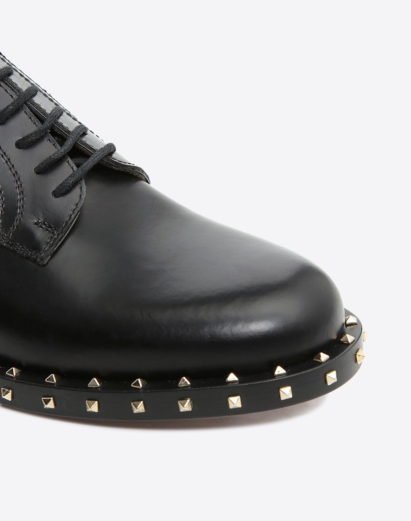 VALENTINO GARAVANI Soul Rockstud 德比鞋 绑带鞋 D b