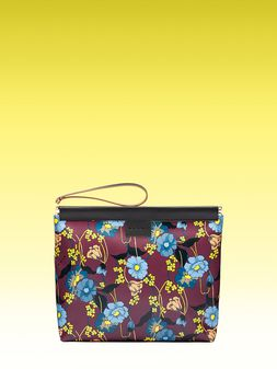 Marni Medium clutch with Melodia Flower print Man