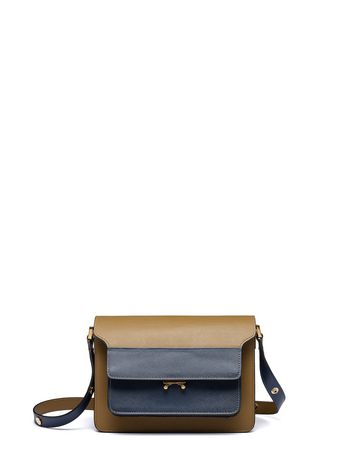 Marni TRUNK bag in saffiano brown Woman