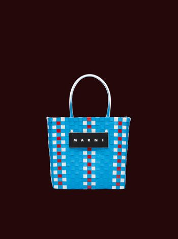 Marni Blue mini woven shopping bag Man