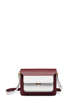 Marni TRUNK bag in burgundy Saffiano leather Woman