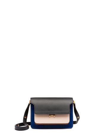 Marni Three-color nappa lak TRUNK shoulder bag Woman