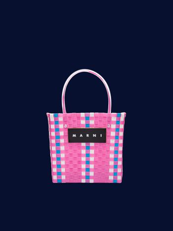 Marni Pink mini woven shopping bag Man