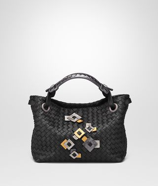 SMALL SHOULDER BAG IN INTRECCIATO NAPPA WITH Kaleidoscope DETAILS