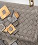 BOTTEGA VENETA BABY OLIMPIA IN INTRECCIATO NAPPA STEEL WITH Kaleidoscope DETAILS Shoulder or hobo bag D ep
