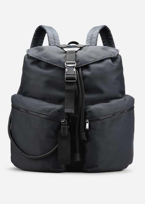 CORDURA BACKPACK WITH ECO-LEATHER DETAILS