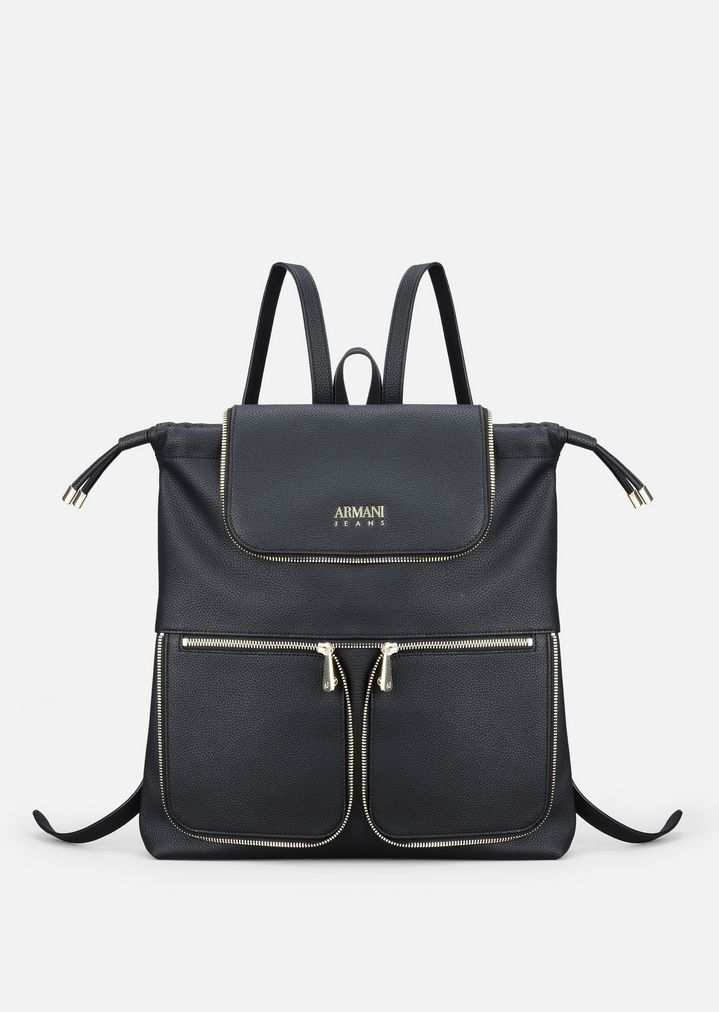 BACKPACK WITH ZIP   Woman   Emporio Armani f01d985005