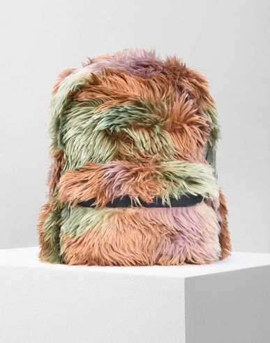 MM6 by MAISON MARGIELA Rucksack D Multicolour faux fur backpack f