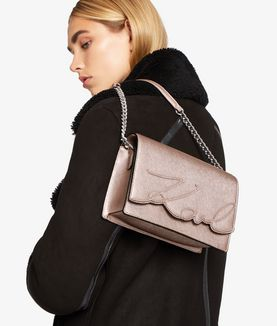 KARL LAGERFELD K/SIGNATURE METALLIC SHOULDERBAG