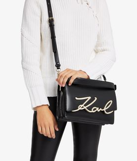 KARL LAGERFELD K/SIGNATURE BIG SHOULDERBAG