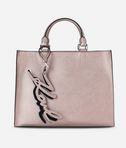 K/Signature Metallic Shopper