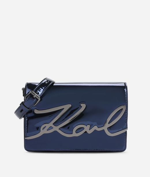 KARL LAGERFELD K/SIGNATURE GLOSS SHOULDER BAG 12_f