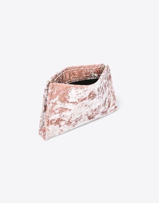 MAISON MARGIELA Velvet pouch with chain strap Clutch Woman a