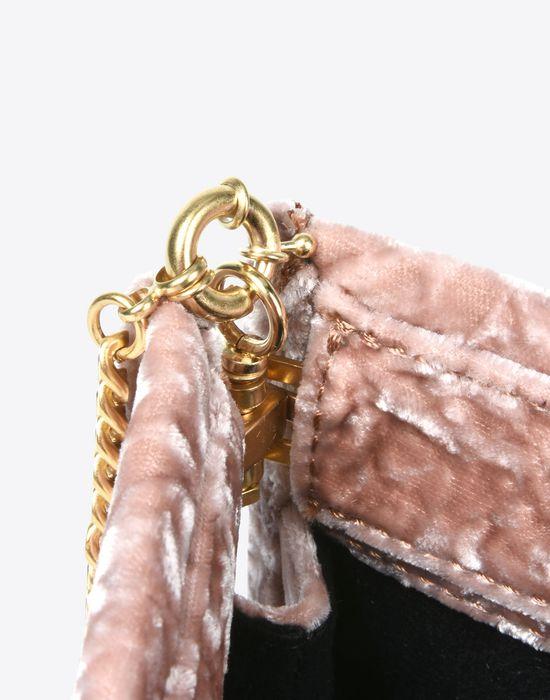 MAISON MARGIELA Velvet pouch with chain strap Clutch Woman d