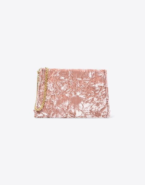MAISON MARGIELA Velvet pouch with chain strap Clutch Woman f