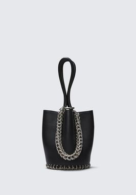 ROXY MINI BUCKET BAG IN BLACK WITH BOX CHAIN