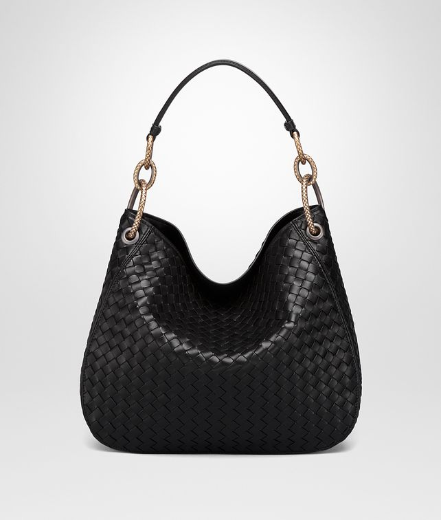 BOTTEGA VENETA NERO INTRECCIATO NAPPA LOOP BAG Hobo Bag Woman fp