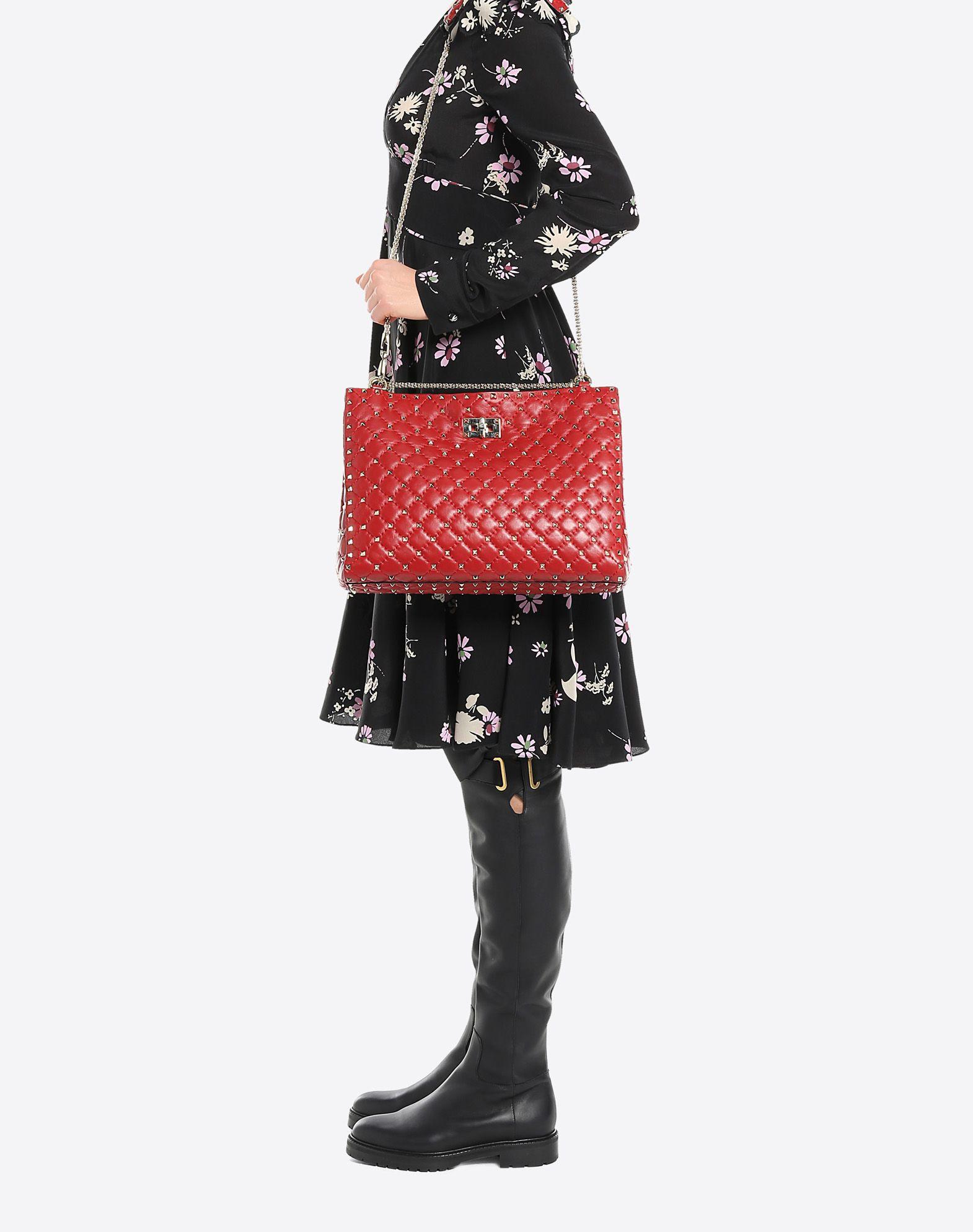 VALENTINO GARAVANI Rockstud Spike Tote Bag Shoulder bag D a