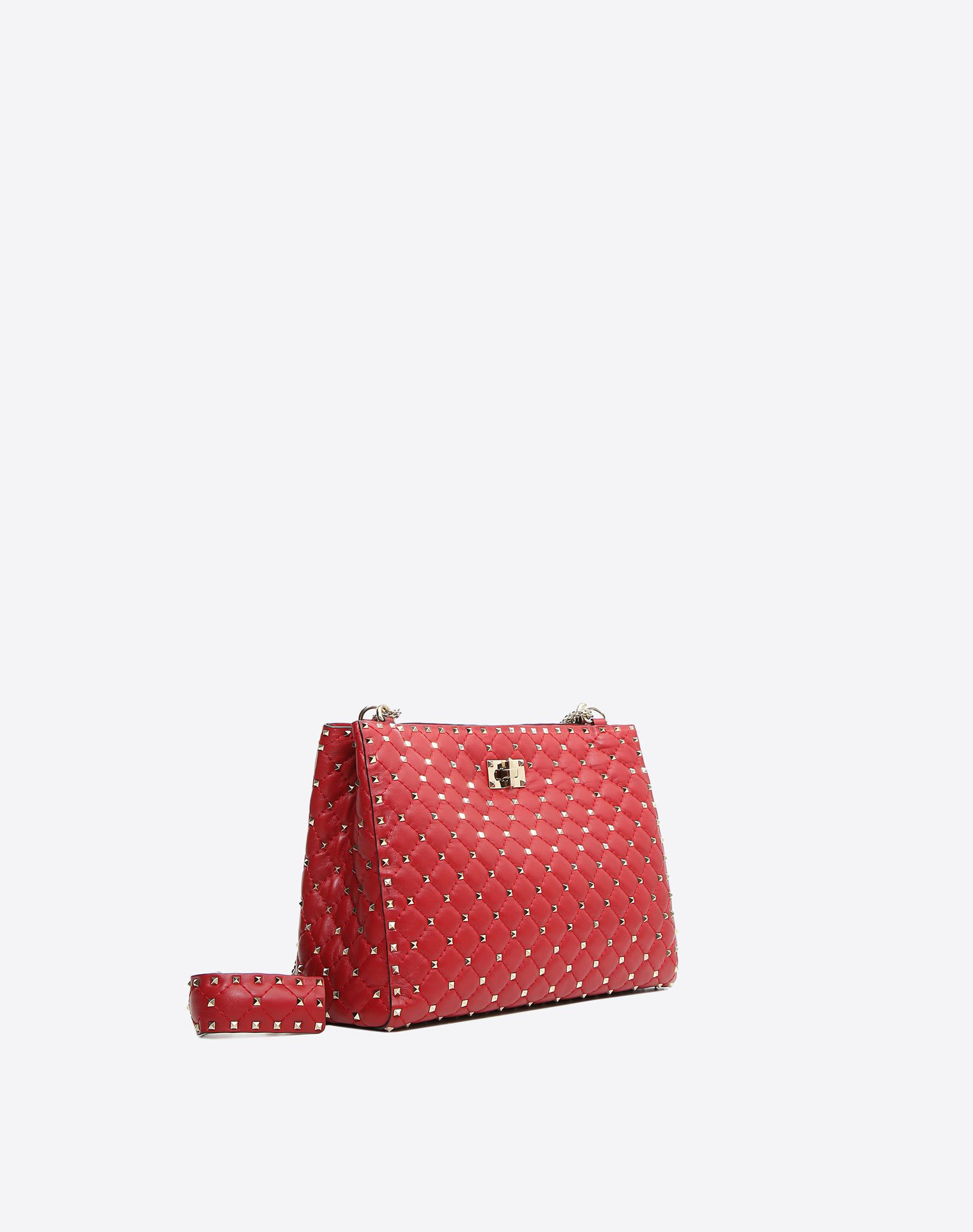 Valentino Garavani The Rockstud Spike Quilted Leather Wallet - Red Valentino 4M9b3Tg4TJ