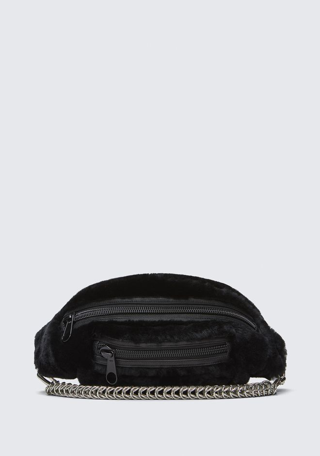 ALEXANDER WANG new-arrivals-bags-woman SHEARLING PRIMARY FANNY PACK WITH BOXCHAIN STRAP