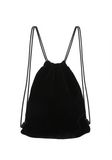 ALEXANDER WANG PRIMARY DRAWSTRING BACKPACK IN BLACK WITH WHITE RAVE FLYER CHENILLE 背包 Adult 8_n_e