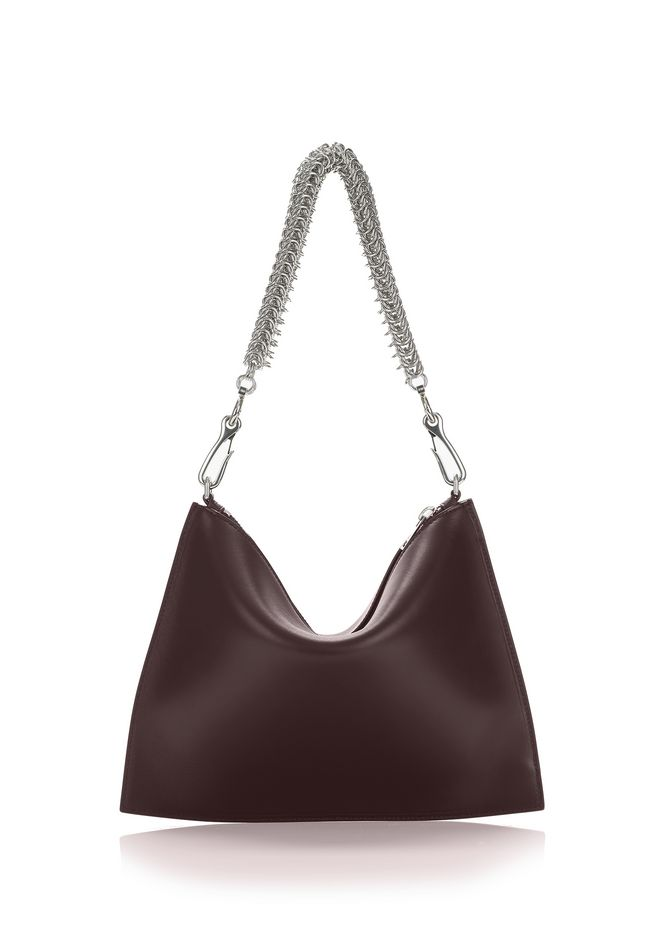 ALEXANDER WANG new-arrivals-bags-woman GENESIS POUCH IN CORDOVAN WITH BOX CHAIN