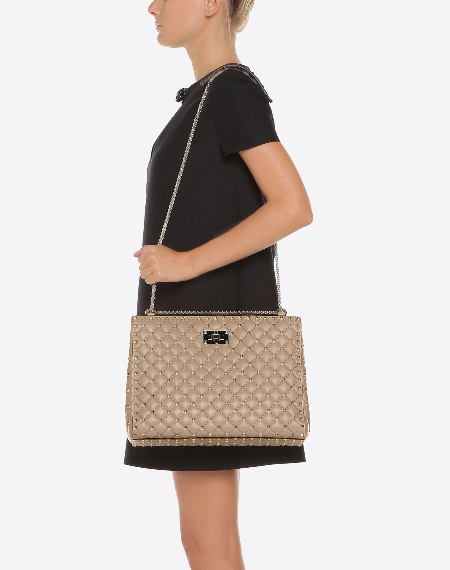 Womens Rockstud Spike Medium Shoulder Bag Valentino KN6b5Rjv5B