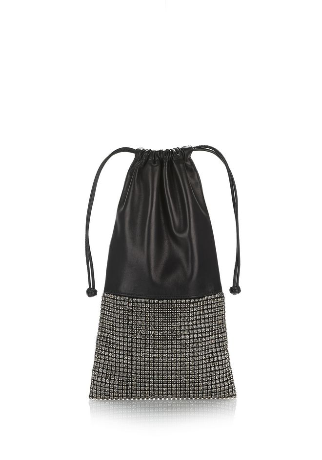 ALEXANDER WANG new-arrivals-bags-woman RYAN DUST BAG IN LIGHT GREY RHINESTONE