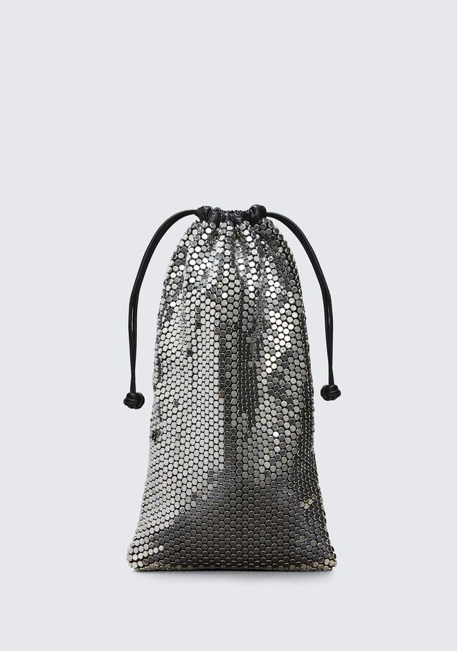 ALEXANDER WANG new-arrivals RYAN DUST BAG IN SILVER STUD RHINESTONE