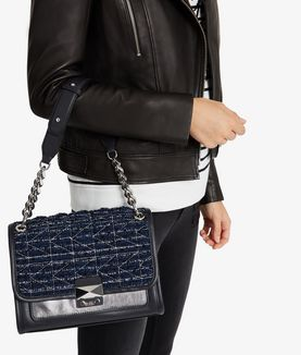 KARL LAGERFELD K/KUILTED TWEED HANDBAG