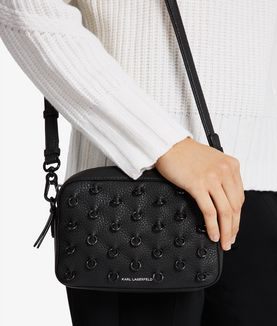 KARL LAGERFELD K/PIERCING SMALL CROSSBODY