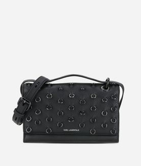 KARL LAGERFELD K/PIERCING SMALL SHOULDERBAG