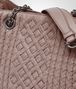 BOTTEGA VENETA BORSA SHOPPING MEDIA IN INTRECCIATO CALF DESERT ROSE Shoulder Bag Donna ep