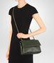 BOTTEGA VENETA SMALL OLIMPIA BAG IN MOSS INTRECCIATO NAPPA LEATHER Shoulder or hobo bag D ap