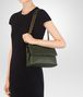 BOTTEGA VENETA SMALL OLIMPIA BAG IN MOSS INTRECCIATO NAPPA LEATHER Shoulder or hobo bag D lp