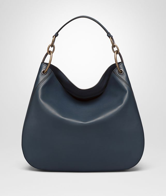 BOTTEGA VENETA LARGE LOOP BAG IN DENIM CALF Shoulder or hobo bag D fp