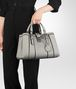 BOTTEGA VENETA SMALL ROMA BAG IN CEMENT CALF Top Handle Bag D ap