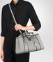 BOTTEGA VENETA SMALL ROMA BAG IN CEMENT CALF Top Handle Bag D lp