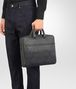 BOTTEGA VENETA BRIEFCASE IN NEW LIGHT GREY ARDOISE EMBROIDERED NAPPA LEATHER, INTRECCIATO DETAILS Business bag Man ap