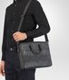 BOTTEGA VENETA BRIEFCASE IN NEW LIGHT GREY ARDOISE EMBROIDERED NAPPA LEATHER, INTRECCIATO DETAILS Business bag U lp
