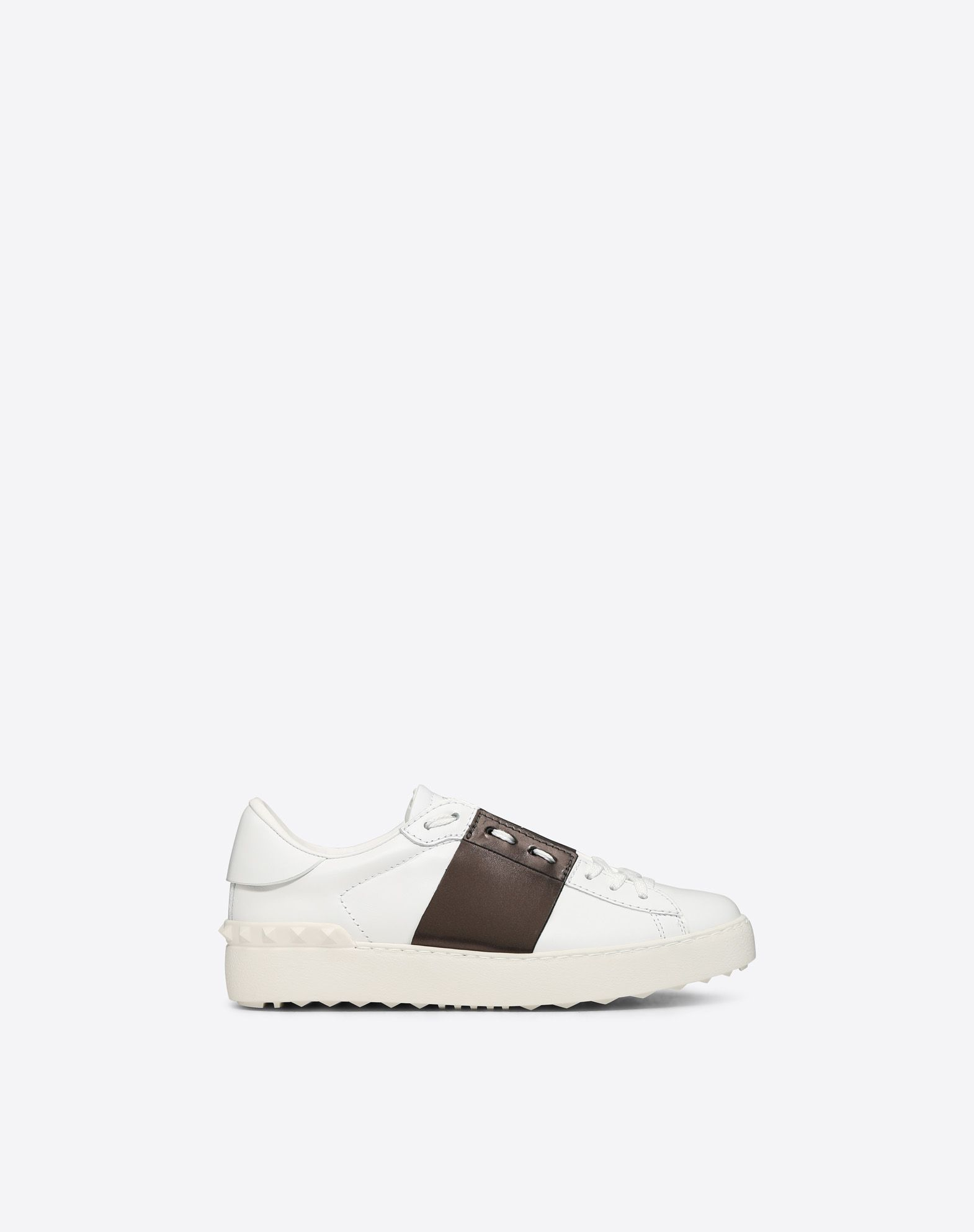 Valentino Garavani Two-tone Metallic Leather Sneakers - White Valentino Buy Cheap Visit New Sale For Sale Largest Supplier Cheap Online Sneakernews Cheap Online Outlet Browse 08V4kKK