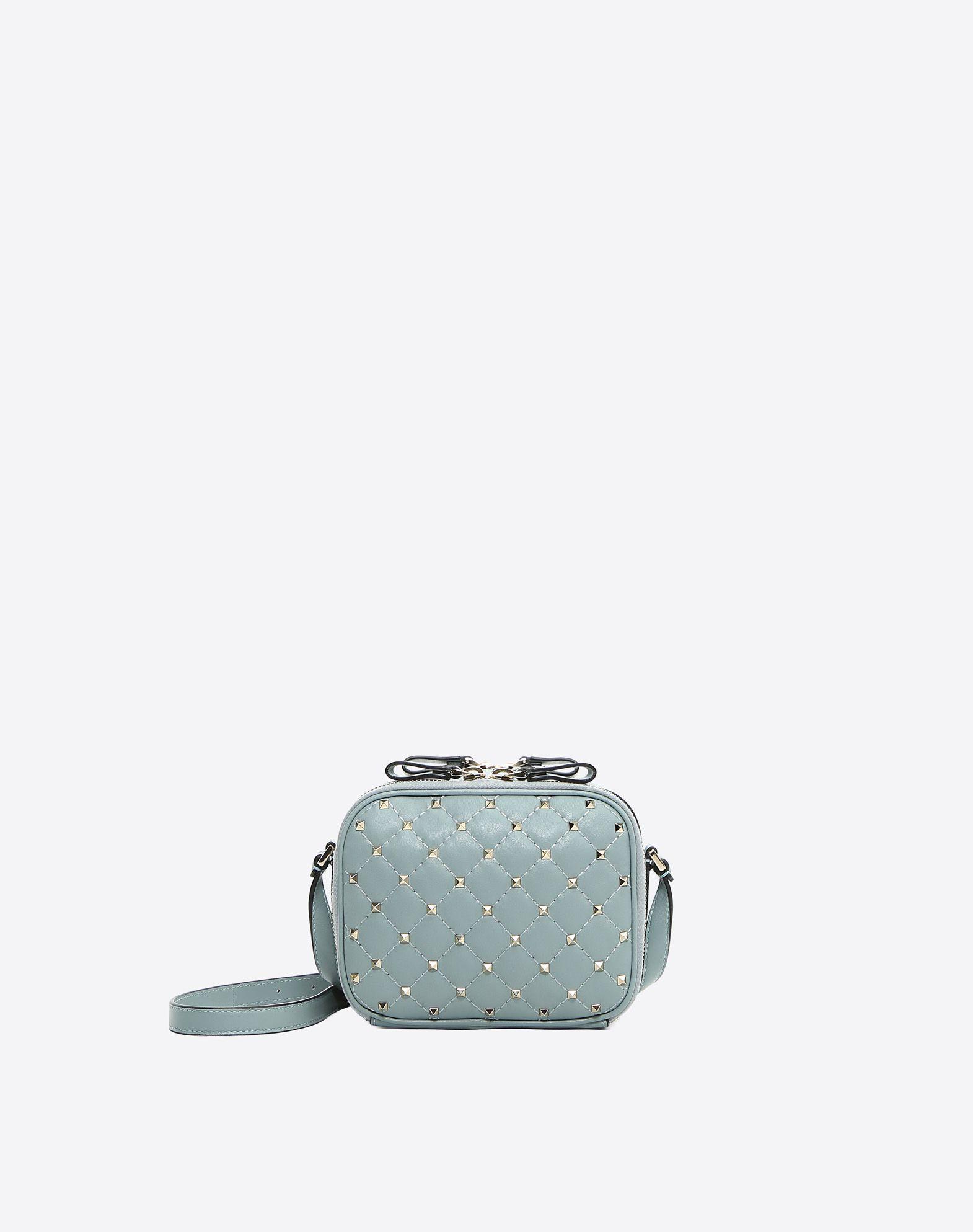 Rockstud Spike Crossbody Bag in Green Nappa Leather Valentino DAaZCx