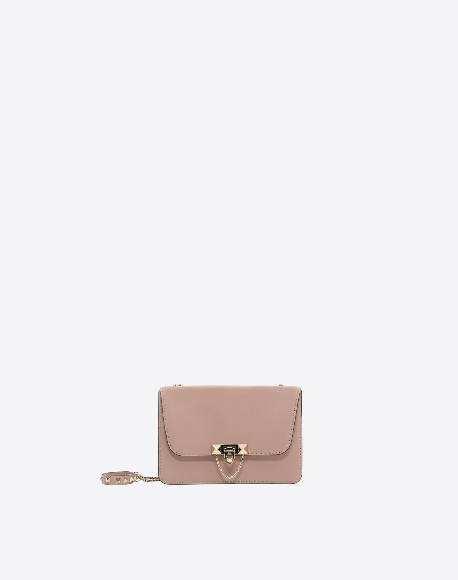 VALENTINO Logo Studs Solid color Framed closure Metallic straps Internal pockets External pocket  45371809ut
