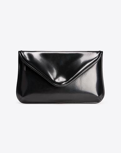 MAISON MARGIELA Oversized shiny calfskin pouch Clutch D f
