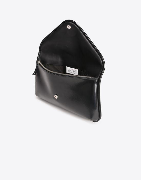 MAISON MARGIELA Oversized shiny calfskin pouch Clutch D a