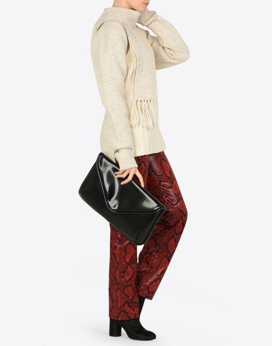 MAISON MARGIELA Oversized shiny calfskin pouch Clutch D b