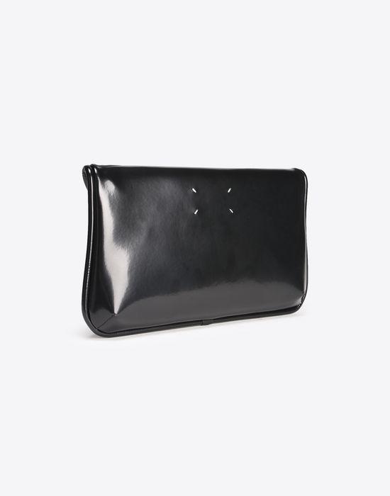 MAISON MARGIELA Oversized shiny calfskin pouch Clutch D r