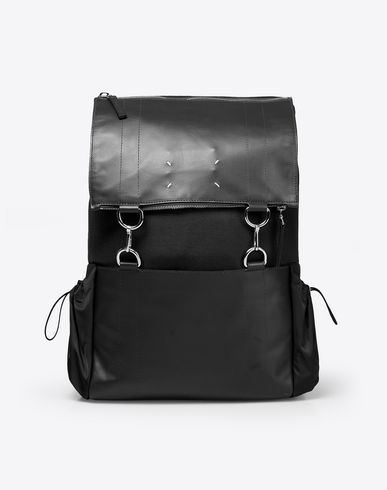 MAISON MARGIELA Backpack U Nylon and calfskin backpack f