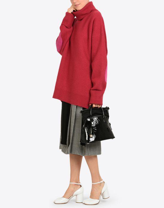MAISON MARGIELA Mini 5AC in creased patent calfskin Handbag Woman b
