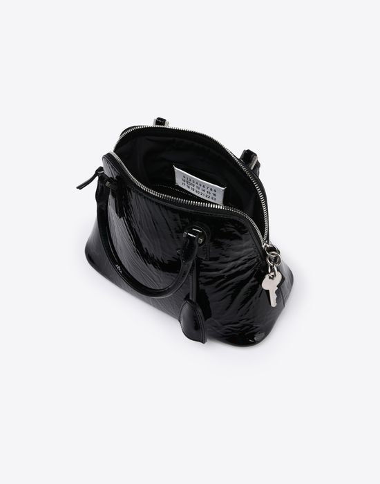 MAISON MARGIELA Mini 5AC in creased patent calfskin Handbag D e